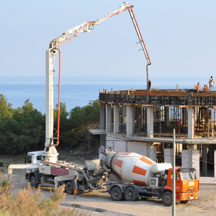 Аренда строительной техники. Аренда автобетононасоса, стационарного бетононасоса